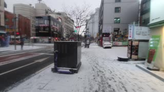 South korea Seoul Snowing Video