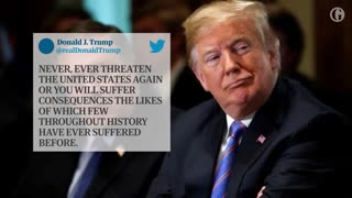 Trump unleashes tweetstorm after Rouhani threatens United States - Video