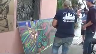 Making of Baphomet Featuring street artist Carl Quintiliani - Video