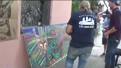 Making of Baphomet Featuring street artist Carl Quintiliani