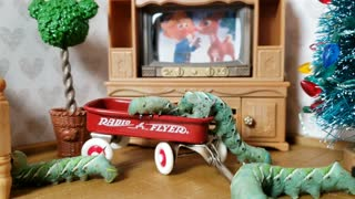 Cute Caterpillara in Tiny Red Wagon | Insect videos for kids