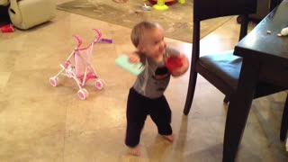 15-month-old baby dances to