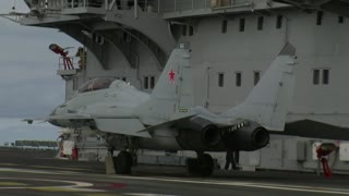 MiG-29K Fighter Jet Pulls Off Incredibly Short Takeoff