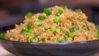 Quinoa Fried Rice - Quick & Healthy Recipe - Video