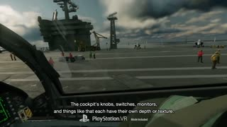 Ace Combat 7 Skies Unknown - Behind The Scenes in VR Video