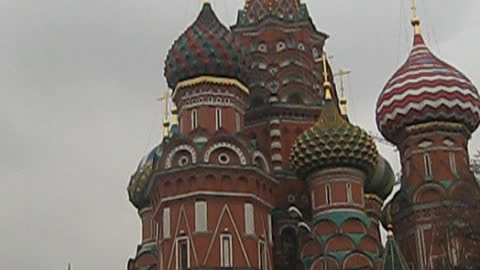 On the red square in Moscow