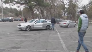 Mercedes Clk and E Class Drift Accident - Video