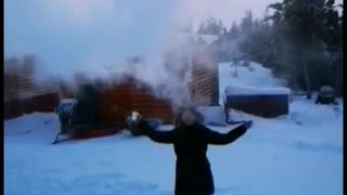 Boiling Water Turns to Snow in -50 Weather!