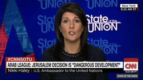 Nikki Haley Claims Trump 'Did the Will of the People' With Recognizing Jerusalem as Israel's Capital