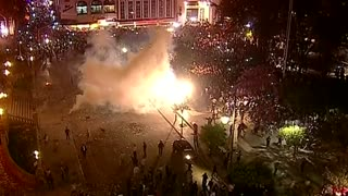 Police, protesters clash in Argentina after election