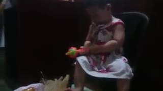 baby playing and laughing very funny - Video