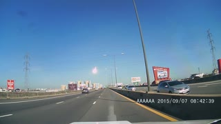 Shooting Star Seen On Highway - Video