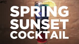 Spring Sunset Cocktail, Spring Showers Never Tasted So Good! - Video