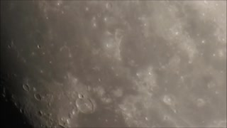 Jan 28th Moon Zoom In  - Video