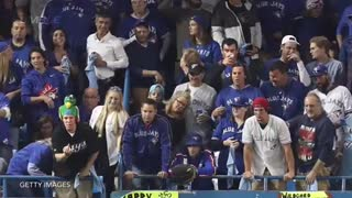 Blue Jays Fan Strips & Runs On Field - Video