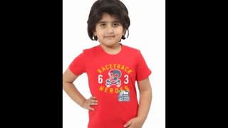 White Colour Kids Graphic T Shirts - Video