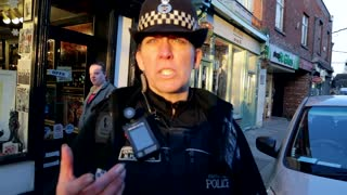 UK cop harassment fail. - Video