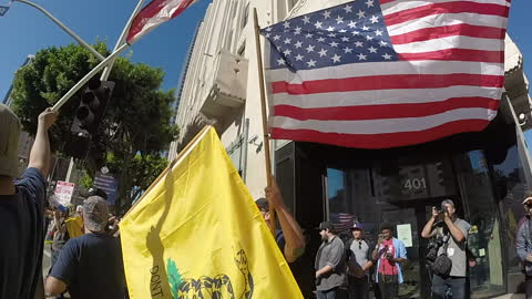Pro-Trump Supports in Downtown Los Angeles