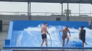 FlowRider Surfing Simulator Fail