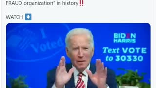 Biden Admits Voter Fraud