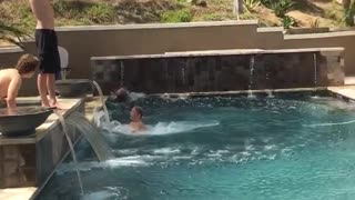 Bellyflop from two story home