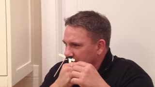 Funny Reaction When This Man Waxes His Nose Hair - Video