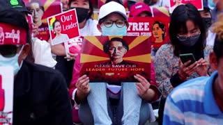 Thousands protests after Myanmar night of fear