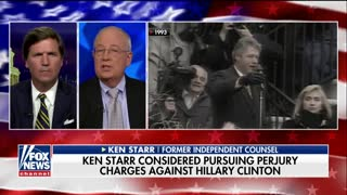 Ken Starr says he considered perjury charges against Hillary Clinton