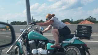 Motorcycle Chick on Ice - Video