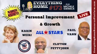 173 LIVE: MARCH MASKLESS MADNESS - Personal Improvement & Growth - 3 All Star Partners