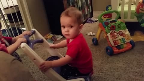 Twin Baby Brothers Take A Tumble Together