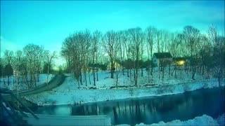Timelapse - Maine Winter Day - Sunrise to Sunset in 40 Seconds.