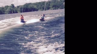 Double Kneeboard Wipeout  - Video