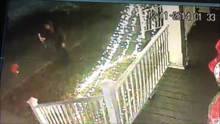 Drunk Scrooge steals Christmas lollipop from lawn. Has hard time. - Video