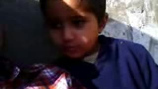 Beautiful fight of small child with His Uncle  - Video