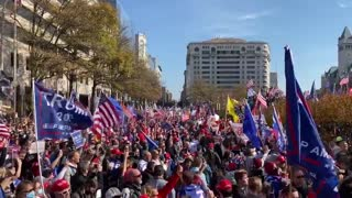 MAGA Million March sings national anthem protest in DC