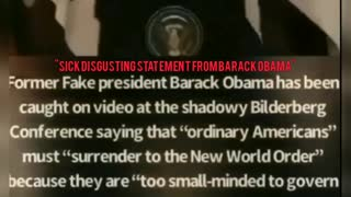 SICK DISGUSTING SPEECH FROM BARACK OBAMA