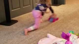 Toddler Practices for Winter Olympics  - Video