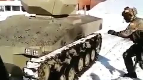 Russian soldier catches a bullet with hands