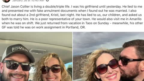 Married police chief exposed on city's social media for having two mistresses
