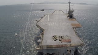 Drone Video Of The Former USS Ranger, Bay of Panama - Video