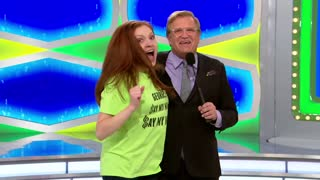 Watch: 'Price of Right' Contestant Gets So Excited She Knocks Drew Carey to the Ground - Video