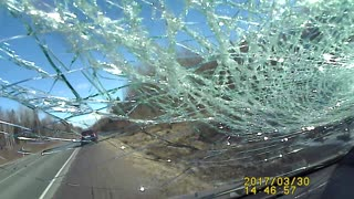 Windshield Shattered While Driving - Video
