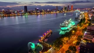 Han river in Da Nang in Viet Nam  - Video