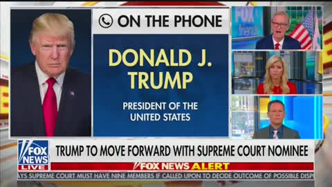Trump on Fox and Friends re GInsburg replacement