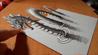 How to draw 3d dragons
