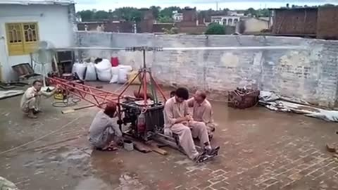 Talented Pakistani boy Made Small Helicopter with small engine