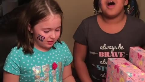 Little girl cries when birthday candle gets blown out