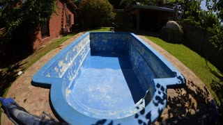Pool cleaning timelapse  - Video