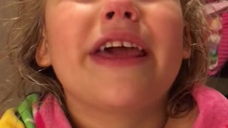 Little Girl Upset That Tooth Fairy Took Her Tooth - Video